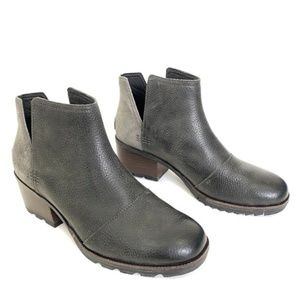 SOREL Cate Cut Out Bootie in Quarry Gray Size 9.5